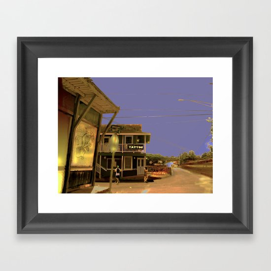 Tattoo Kauaii Framed Art Print