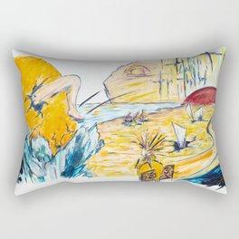 X voyages de Zed (toile 6 - série 1) Rectangular Pillow