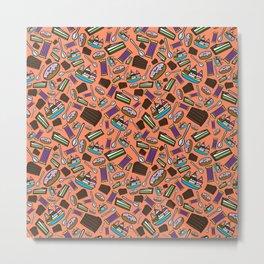 Sweets Pattern Metal Print
