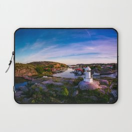 Sunset over old fishing port - Aerial Photography Laptop Sleeve