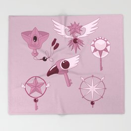 Cardcaptor Keys Throw Blanket