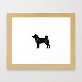Cosmic Shiba Inu Space Funny Cute Dog Galaxy Framed Art Print