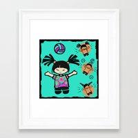 tye dye Framed Art Prints featuring Tye Dye Volley Hi by KiKi Spike Volleyball Stuff!