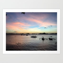 El Nido vivid sunset Art Print