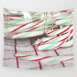 Candy Canes Wall Tapestry