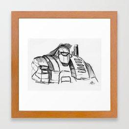 Warbot Sketch #053 Framed Art Print