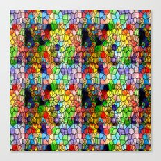 Stained Glass Abstract Digital Art Canvas Print