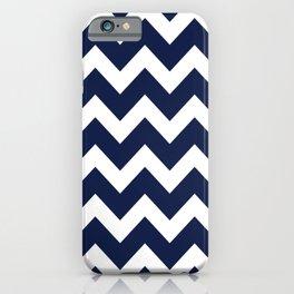 Navy Blue Zigzag Minimal iPhone Case