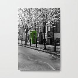 Phone Boxes gone green  Metal Print