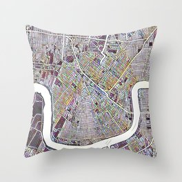 New Orleans Color Variation 1 Throw Pillow