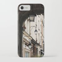 outdoor iPhone & iPod Cases featuring Classic Outdoor Lamps in Paris by Marquis de Noir