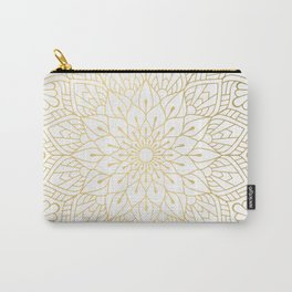 The Golden Mandala Illustration Pattern Carry-All Pouch