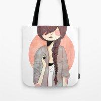 nan lawson Tote Bags featuring Some Fashion by Nan Lawson