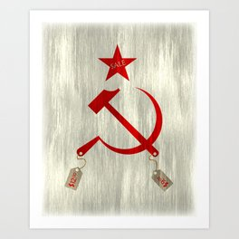 Communism vs. Capitalism Art Print