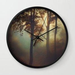 Fog Pit -  Misty Sunrise Wall Clock
