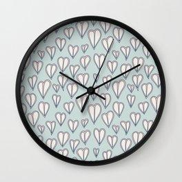 Heart Doodles 05 Wall Clock
