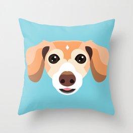 Pet Portrait - Pip Throw Pillow