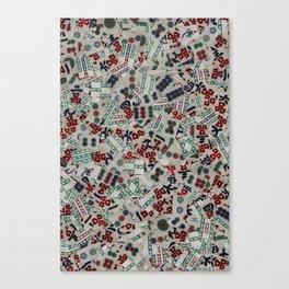 Mahjong Tiles Canvas Print