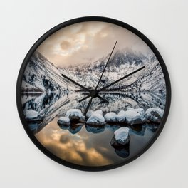 Picture California USA Convict Morrison Nature mountain Lake Scenery Mountains landscape photography Wall Clock