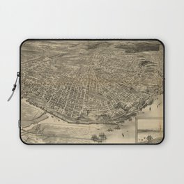 Vintage Pictorial Map of Tacoma WA (1893) Laptop Sleeve
