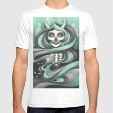 Lady Hades MEDIUM White Mens Fitted Tee