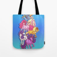 mlp Tote Bags featuring MLP... esque by Sempaiko