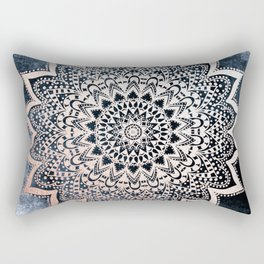 BLUE BOHO NIGHTS MANDALA Rectangular Pillow
