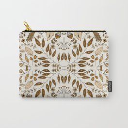 Floral Mix – Mocha Carry-All Pouch