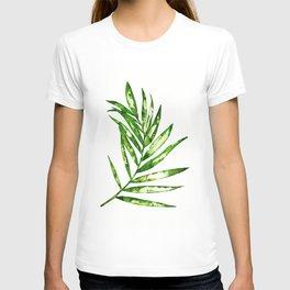 Green ink painting - fern T-shirt