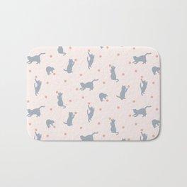 Polka Dot Cats Bath Mat