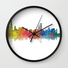 Chicago Skyline 1 Wall Clock