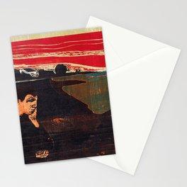 Edvard Munch - Evening. Melancholy - Digital Remastered Edition Stationery Cards