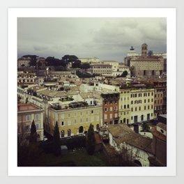 Rainy Rome Art Print