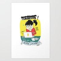card Art Prints featuring card by fareea