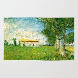 Vincent Van Gogh - Farmhouse in a cornfield Rug