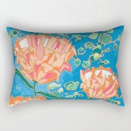 Four Orange Proteas Rectangular Pillow