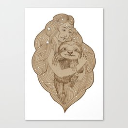 Slothy Christmas Canvas Print