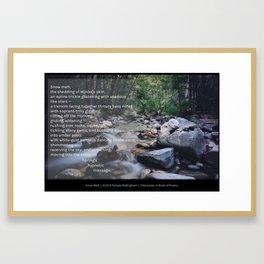 Snow Melt   Pamala Ballingham Framed Art Print