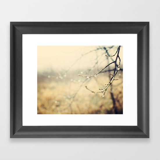 January rain Framed Art Print