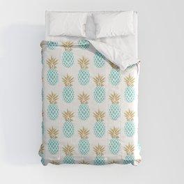Elegant faux gold pineapple pattern Comforters