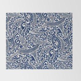 Hawaiian tribal pattern III Throw Blanket