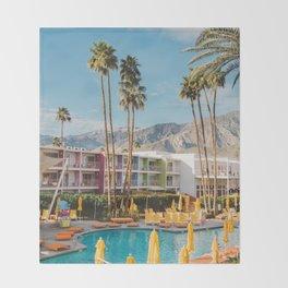 Palm Springs Saguaro Throw Blanket