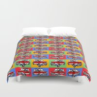 dale cooper Duvet Covers featuring mini cooper by Pedro Vale