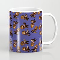 bucky Mugs featuring RACCOON BUCKY by zombietonbo