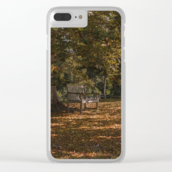Autumn under the tree Clear iPhone Case