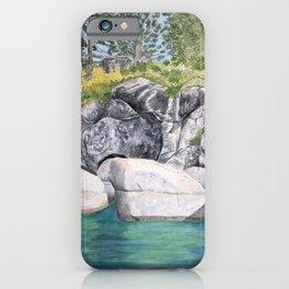 Lake Tahoe Shore View iPhone Case