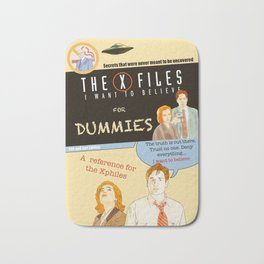 Mulder and Scully for dummies Bath Mat