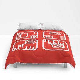 Mayan Glyphs ~ Hands Comforters