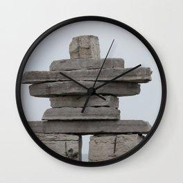 Inukshuk Fine Art Photography Wall Clock