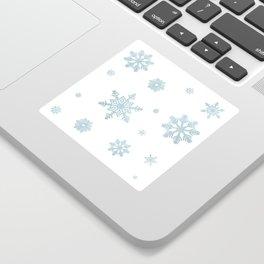 Glitter Snowflakes Sticker
